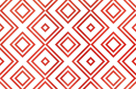 ruddy: Watercolor geometrical pattern in red color. For fashion textile, cloth, backgrounds.