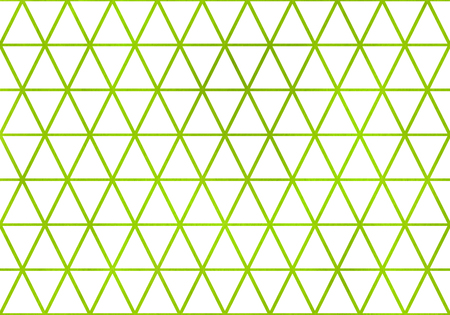 rhomb: Watercolor lime green triangle pattern. Watercolor geometric pattern. Stock Photo