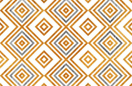 Gouden en zilveren geometrisch patroon. Voor mode textiel, doek achtergronden