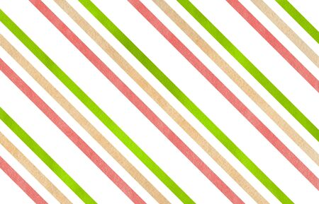 diagonal stripes: Watercolor lime green, coral pink and beige striped background.