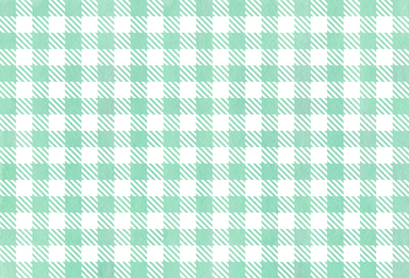 Watercolor seafoam blue checked pattern. Geometrical traditional ornament for fashion textile, cloth, backgrounds.