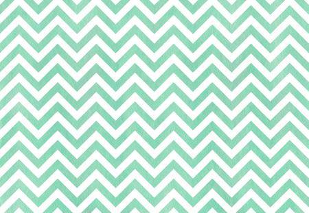 Watercolor seafoam blue stripes background, chevron. Watercolor geometric pattern
