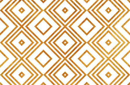 scrap gold: Golden geometrical pattern. For fashion textile, cloth backgrounds