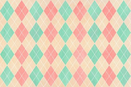rhomb: Watercolor light pink, beige and seafoam blue diamond pattern. Geometrical traditional ornament for fashion textile, cloth, backgrounds.