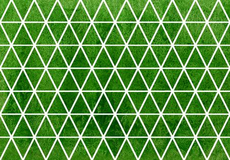rhomb: Watercolor green triangle pattern. Watercolor geometric pattern.