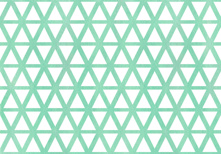 Watercolor seafoam blue triangle pattern. Watercolor geometric pattern.