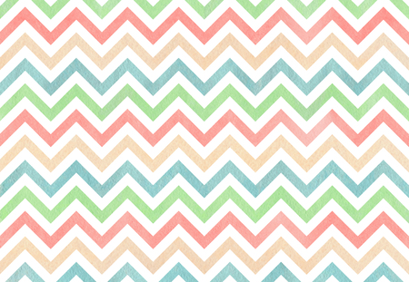 Watercolor blue, light pink, beige and mint green stripes background, chevron. Reklamní fotografie