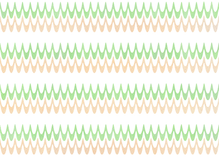 Watercolor mint green and beige wavy striped pattern.