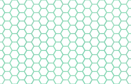 Watercolor Seafoam Blue Geometrical Comb Pattern Hexagonal Grid