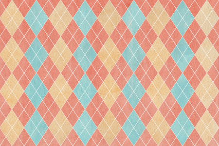 Watercolor diamond pattern. Stock Photo