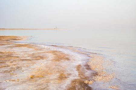 Salty coast of the Dead Sea, Israel. Foto de archivo - 95514999