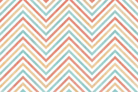 Watercolor blue, beige and pink stripes background, chevron Stock Photo