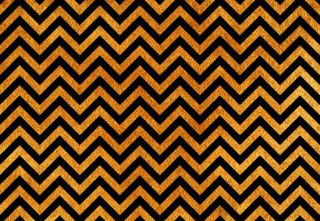 Golden painted stripes background, chevron. Golden shining texture. Gold paint