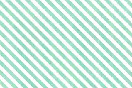 Watercolor seafoam blue striped background. Watercolor geometric pattern. Stock Photo