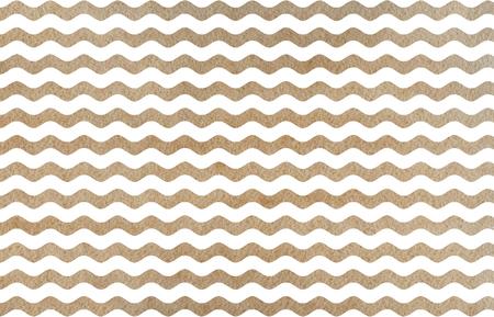 Watercolor khaki wavy striped pattern. Watercolor geometric pattern. Stock Photo