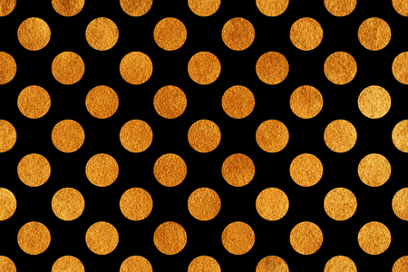Golden painted polka dot background. Pattern with dots for scrapbooks, wedding, party or baby shower invitations.