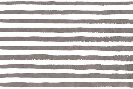 Coups de pinceau gris aquarelle sur fond blanc. Motif de rayures grunge dessiné à la main pour l'impression de tissu, le design textile, la mode. Banque d'images