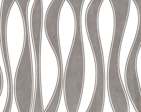 Watercolor gray striped background. Curved line pattern.