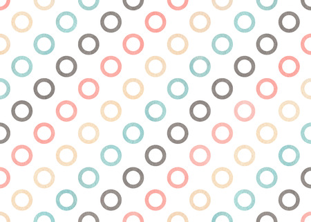 Watercolor light pink, blue, gray and beige circles on white background. Banco de Imagens