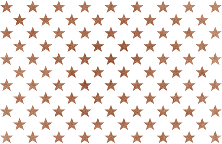 Watercolor pattern with brown stars on white background. Banco de Imagens