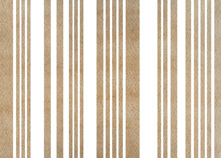 Watercolor khaki striped background. Watercolor geometric pattern.