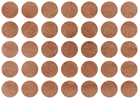 Watercolor circles in brown color. Pattern with colorful circles for scrapbooks, wedding, party or baby shower invitations. Banco de Imagens