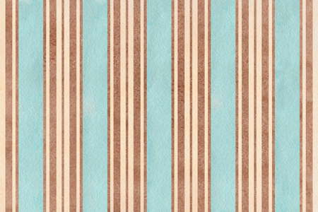 Watercolor blue, beige and brown striped background. Banco de Imagens