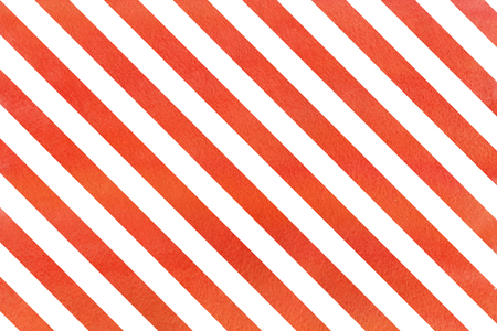 Watercolor red stripes background. Abstract watercolor background with red stripes. Banco de Imagens