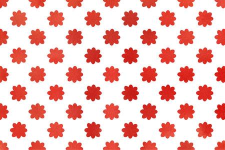 Watercolor red flowers. Watercolor flowers background. Watercolor texture. Watercolor geometric pattern. Banco de Imagens