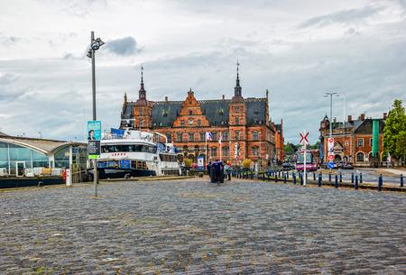 Helsingor, Denmark - May, 2019: Train station of Helsingor in Denmark.