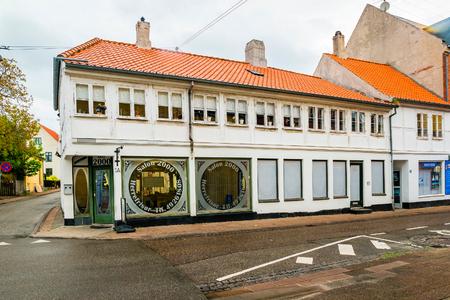 Helsingor, Denmark - May, 2019: Street view with colorful buildings in Helsingor, Denmark.