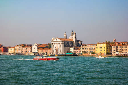 The view of venetian lagoon in the afternoon.