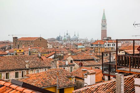 Top view of Venice from roof of Fondaco dei Tedeschi.