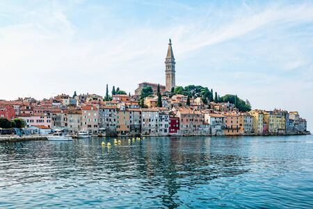 View of the old city of Rovinj in Croatia.