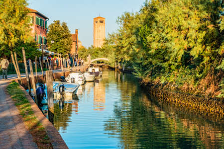 Venice, Italy - October, 2019: Torcello, an island in the Venetian Lagoon.