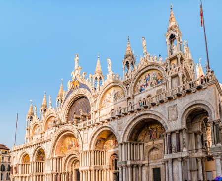 Venice, Italy - October, 2019: Patriarchal Cathedral Basilica of Saint Mark (Basilica Cattedrale Patriarcale di San Marco), Venice, Italy. Editorial