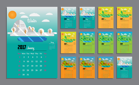 Calendar Template Round Stock Photos & Pictures. Royalty Free