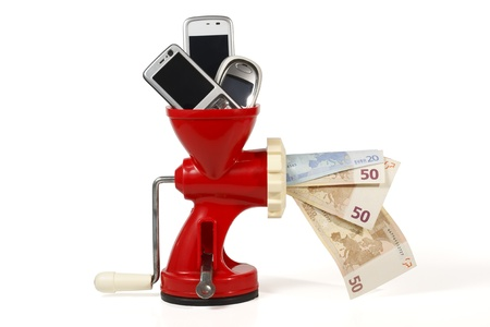 converting: Sell your old mobile phones to win money and help the environment by recycling, ecological attitude