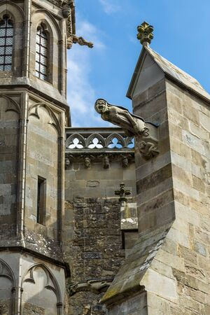 gargoyle: Gargoyle stone of the cathedral Saint-Nazaire