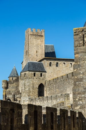 Walls and towers of the cite of Carcassonne
