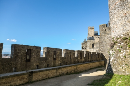 Las paredes y las torres de la Ciudad de Carcassonne