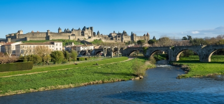 panoramic view of the cite of Carcassonne
