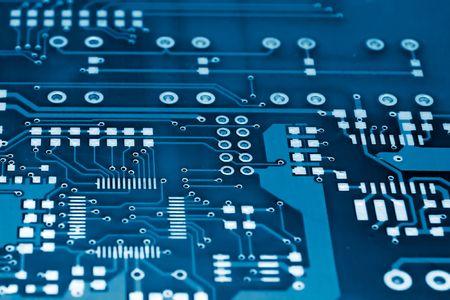 printed circuit board: Blue toned circuit imprim�