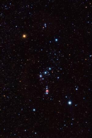 constelacion: Constelaci�n y la nebulosa de Ori�n