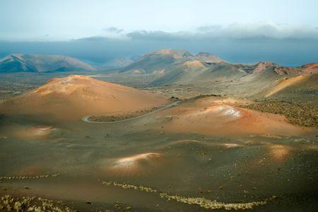 timanfaya: Volcanes en el Parque Nacional de Timanfaya, Lanzarote, Islas Canarias