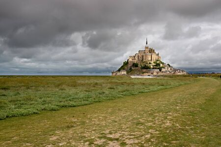 Mont Sant Michel in low tide photo