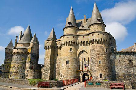 ch�teau m�di�val: Ch�teau de Vitr?, Bretagne, France.  Banque d'images