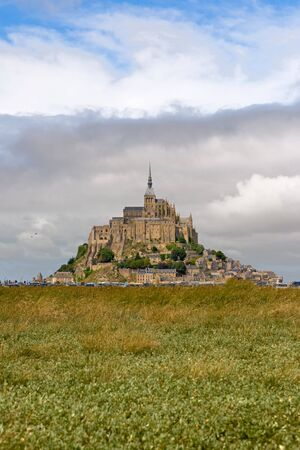 The mount Saint-Michel Abbey, Normandy, France photo