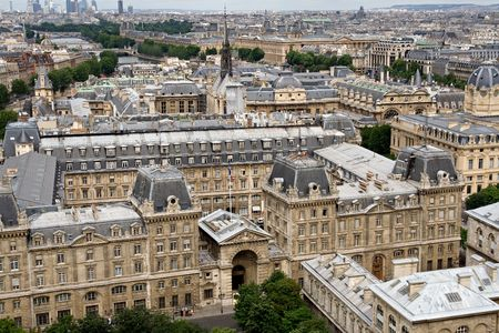 Paris view from Notre Dame