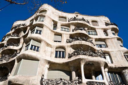 casa: La Pedrera, Antonio Gaudis Casa Mila in Barcelona Stock Photo